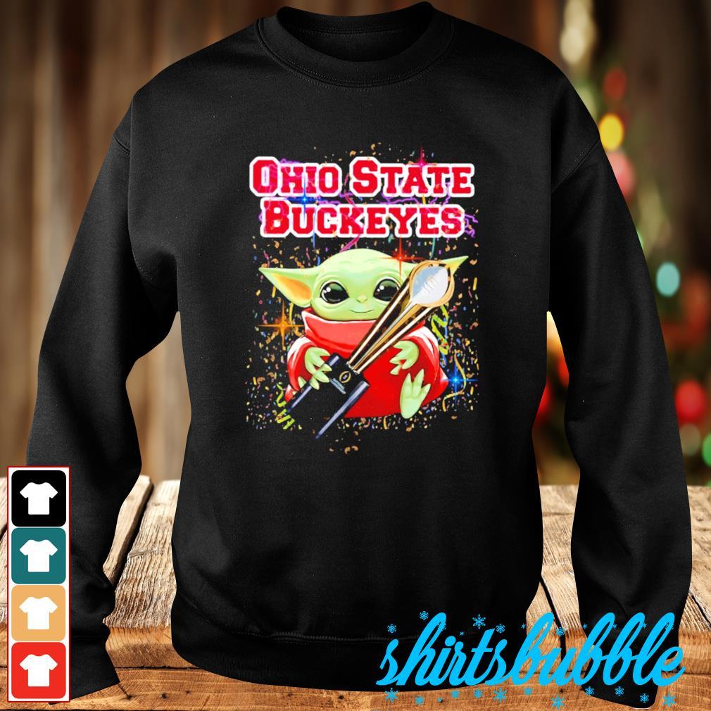 Best Baby Yoda hug Ohio State Buckeyes champion cup s Sweater