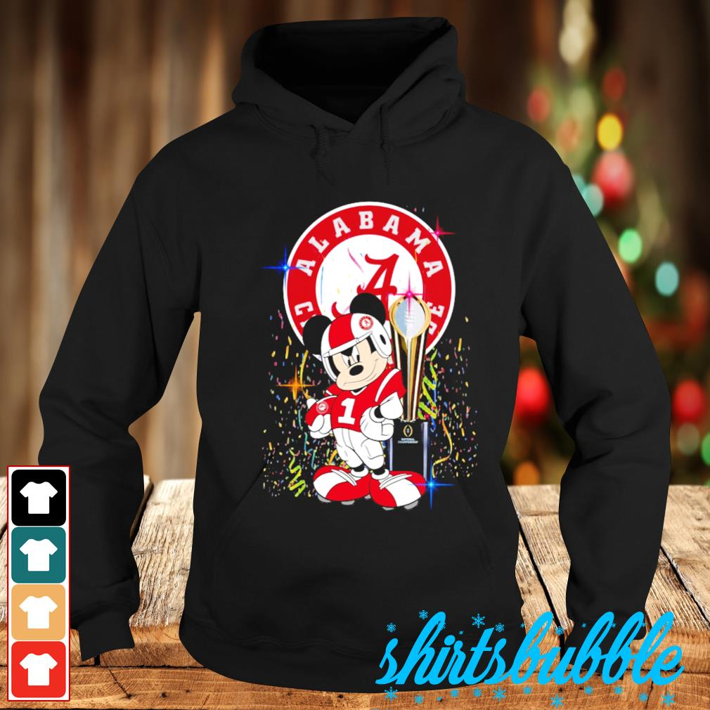 Best Mickey Mouse and Alabama Crimson Tide champion cup s Hoodie