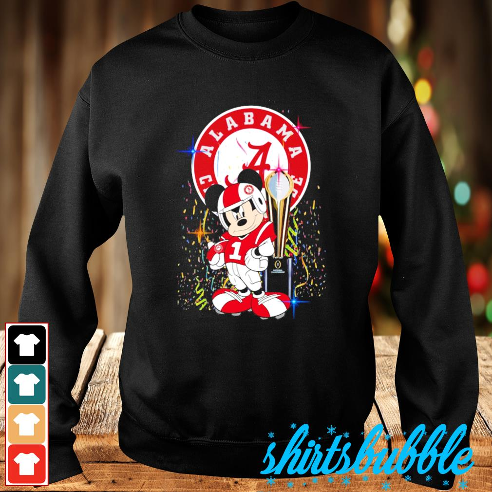 Best Mickey Mouse and Alabama Crimson Tide champion cup s Sweater