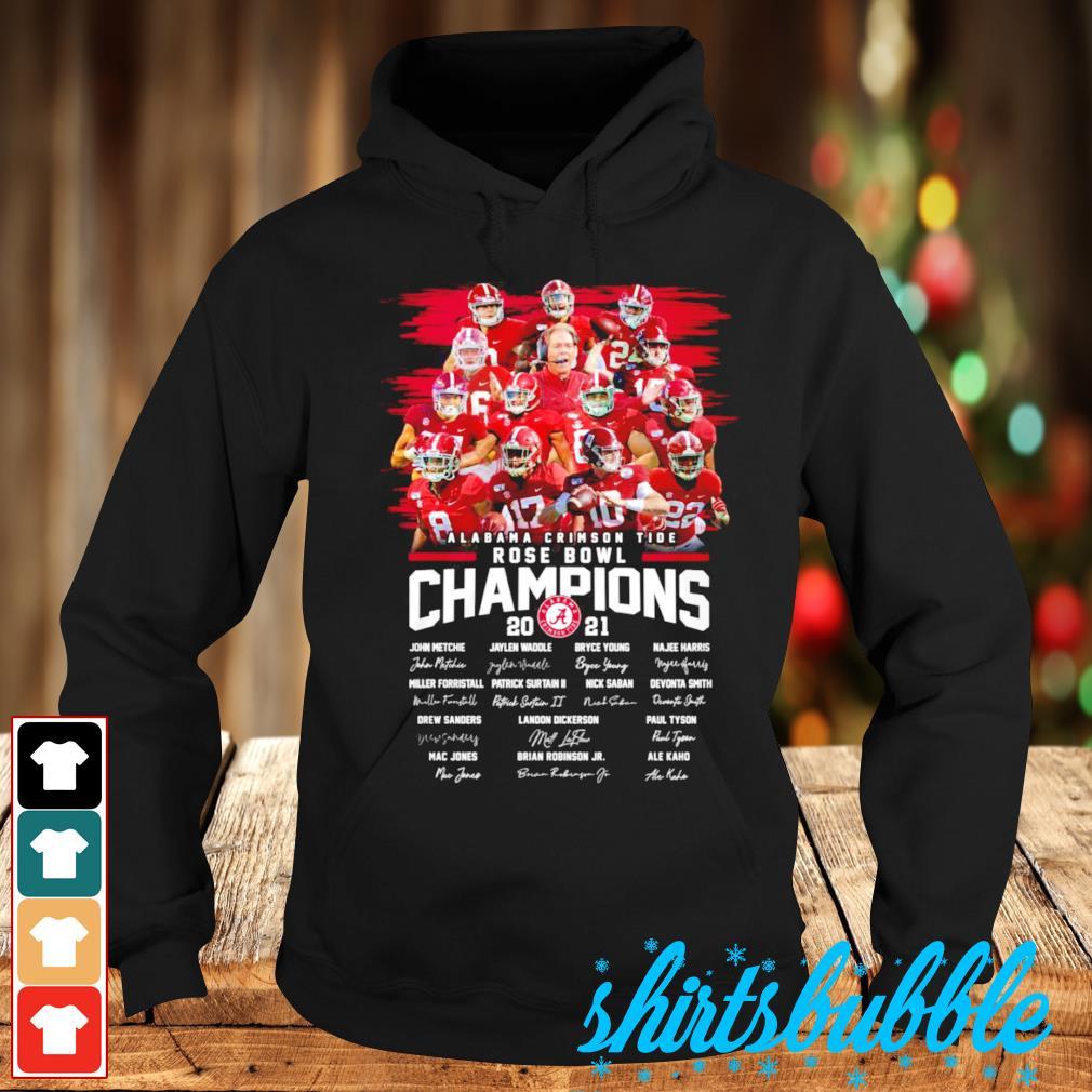 Best seller Alabama Crimson Tide Rose Bowl Champions 2021 signatures s Hoodie