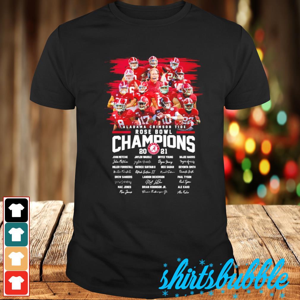 Best seller Alabama Crimson Tide Rose Bowl Champions 2021 signatures shirt