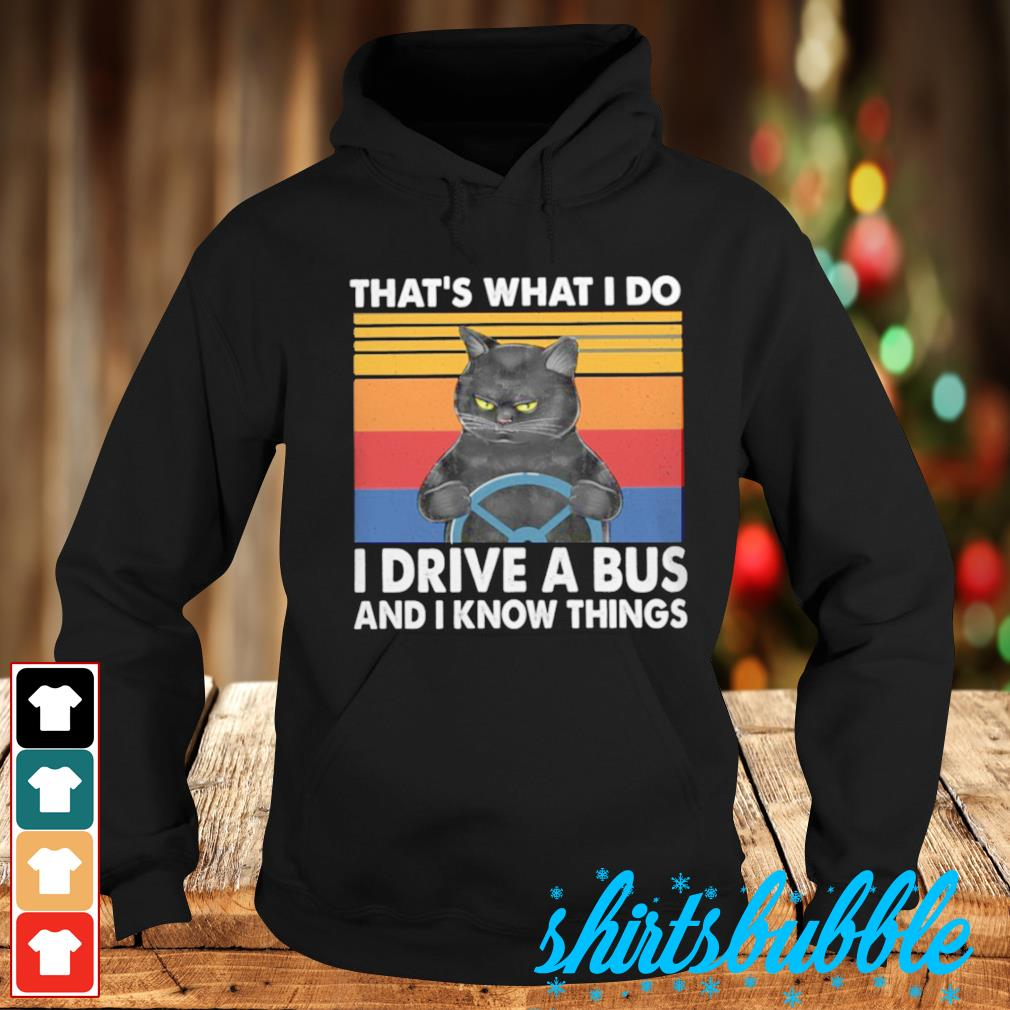 That's what I do I drive a bus and I know things vintage s Hoodie